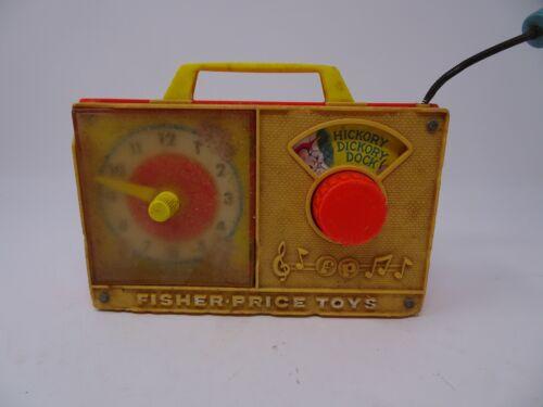 Vintage Fisher Price Hickory Dickory Dock Clock Radio Music Box #107 Works