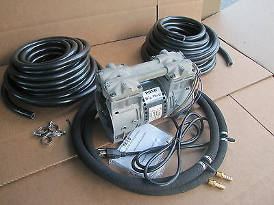 BIG MAX Large Pond AERATION /AERATOR SYSTEM 100ft Weighted Hose& 2 Lg Diffusers!