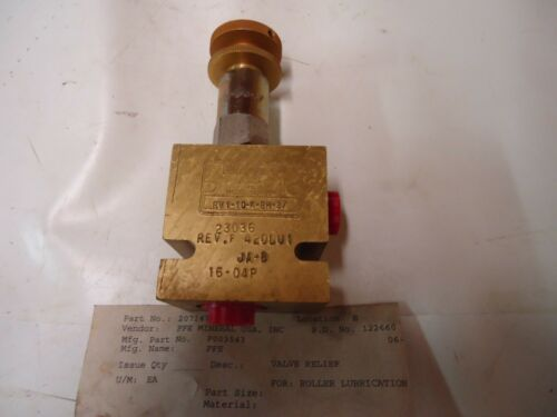 "VICKERS EATON RELIEF BLOCK & VALVE RV1-10-K-8H-3/  WITH RV1-10-S-0-3/ ""NEW"""