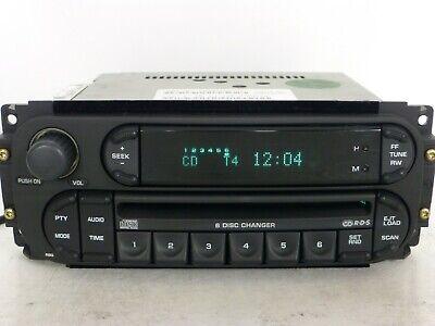 DODGE JEEP CHRYSLER Durango Ram RDS Radio 6 CD Disc Changer Player Stereo RBQ
