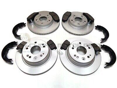 Honda FR-V 2.0i-VTEC 11//04-09//06 Front Brake Discs /& Mintex Pads Dimpled Grooved