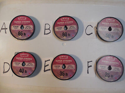 ORVIS SUPER STRONG TIPPET LEADER BUTT MATERIAL 65, 60, 50, 40, 35, 25 LB SPOOLS