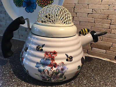 VTG Kamenstein World Of Motion Teapot Kettle With Spinning Bees Made In Thailand
