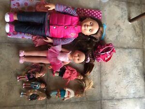 Lot de poupées Our Generation et autres