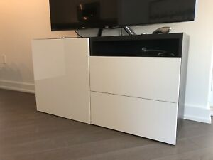 TV Unit Storage Stand with Drawers