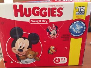Couches Huggies Snug and Dry - taille 2