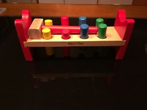 Hammer and Peg Toy - Melissa and Doug brand
