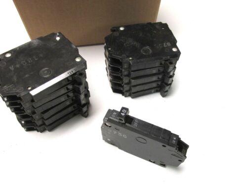 General Electric Slim 40A, 1P Circuit Breakers Cat# THQP140 (Box of 12).. UA-609
