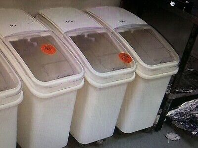 Commercial Dry Ingredient Storage Bincontainers Mobile White