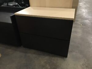 2 Wooden filing cabinets