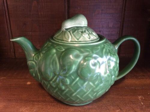 Lovely Vintage Wade England Harvest Green Fruit pottery Teapot