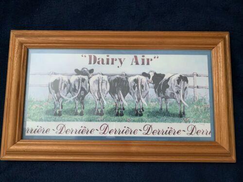 Figi Graphics Cow Theme Dairy Air Derrière Framed Picture Cows Humor Farm Decor