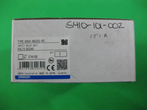 Omron Safety Relay Unit -- G9SX-NS202-RC -- New