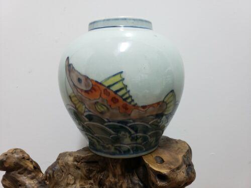 Fine Chinese Antique  DOUCAI Porcelain Jar