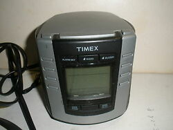 VGC Timex Auto-Set Dual Alarm Digital Clock Radio T301B LED Backlit Batt Travel