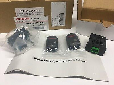 Genuine Honda OEM - Element Set of 2 Keyless Entry Remotes Fob Kit - 08E60SCV100 - Honda Keyless Entry Remotes
