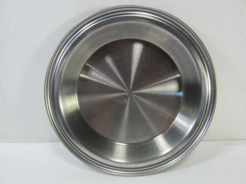Vintage West Bend Stainless Steel No Drip Pie Plate   #AH
