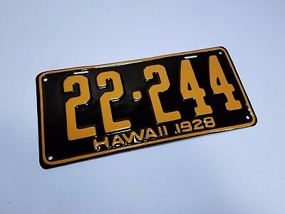 Hawaii License Plate RESTORATION SERVICE 1920 1931 1932 1947 1957 1960 1968