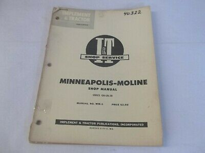 It Shop Service Minneapolis-moline Gb-ub-zb Manual
