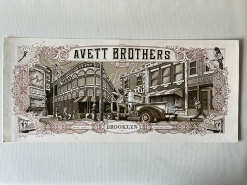 Dig My Chilli The Avett Brothers Barclays Center 3/7/14 Concert Poster