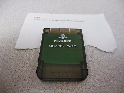 Clear Memory - *Official* Clear Smoke Black Playstation 1 Memory Card for PSX US/Japan Original