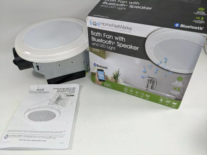 Home Netwerks 7130-18-BT 80 CFM Exhaust Fan with LED Light