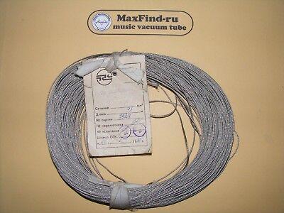 Mgtf-e Shield Heat-resistant Wire1x0.07 Mm Ussr Otk 1 Lot10 M 328ft