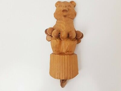 Vintage Wooden Carved Bear Moving Ball Strings - String Articulated, Collectable