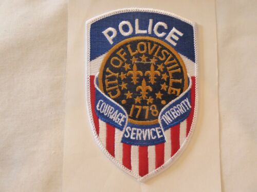 LOUISVILLE KENTUCKY POLICE UNIFORM EMBLEM PATCH WITH CHIEF OF POLICE FOLDER, NEW