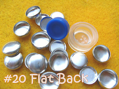 Cover Button Starter Kit Flat Back Buttons w/clear tool hand press notion - Button Cover Kit