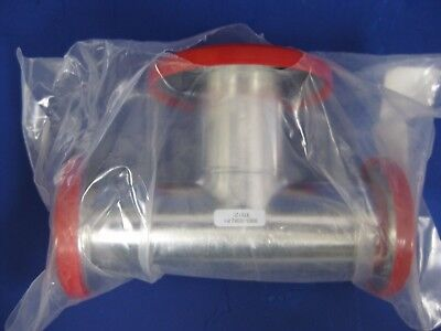 Amat Stainless Stee Vacuum Tube Tee Kf40 Flanges And Kf50 Reducer Flange New