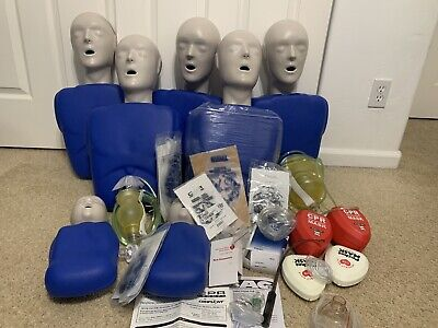 Lot Of Cpr Prompt Emergency Emt Training Mannequins Manikin Adult Infant