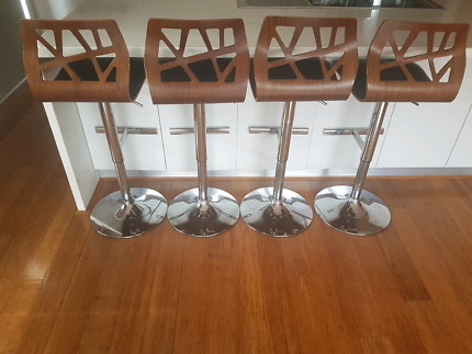 Four Wooden bar stools for only $150