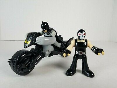 Fisher-Price Imaginext DC Super Friends Batman w/ Bat Cycle Motorcycle with Bane