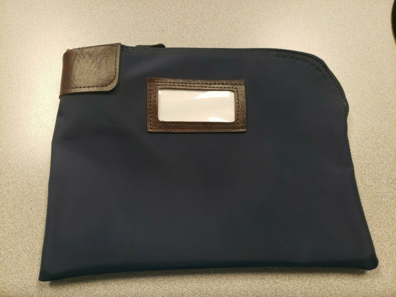 Waterproof Cash Bag with Lock & 2 Keys, 11 x 8.6 In Documents Money Bank Deposit