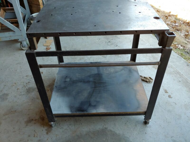 Rolling shop Cart with Welding Table Top
