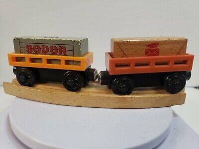 Thomas Wooden Train Cargo Box Car Lot- Sodor Shipping Co- Postal Mail