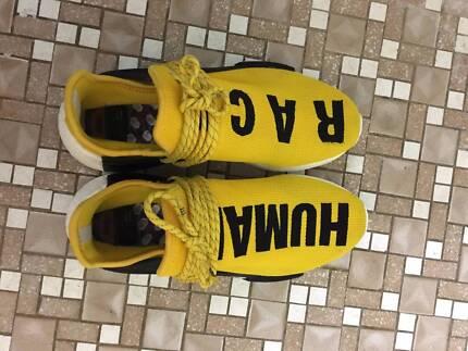 Cheap Adidas NMD Human Race black&yellow US8