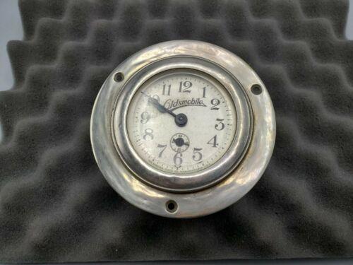 Vintage Ansonia Clock Co. Oldsmobile Car Dash Clock - Manual Wind Working USA