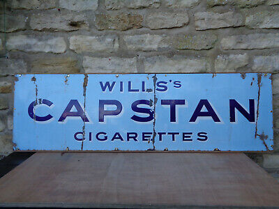Original Wills Capston Cigarettes Vintage Enamel Sign