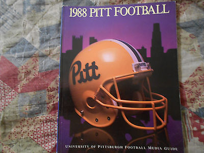 1988 Pitt Panthers Football Media Guide Yearbook Pittsburgh Program College Ad