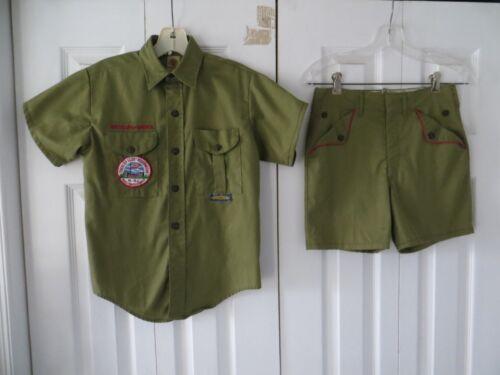 Vintage Boy Scouts Short Sleeve Shirt & Shorts Uniform Trexler Reservation Patch