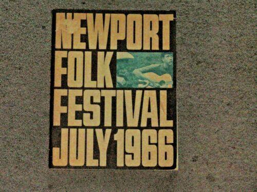 1966 NEWPORT FOLK FESTIVAL PROGRAM