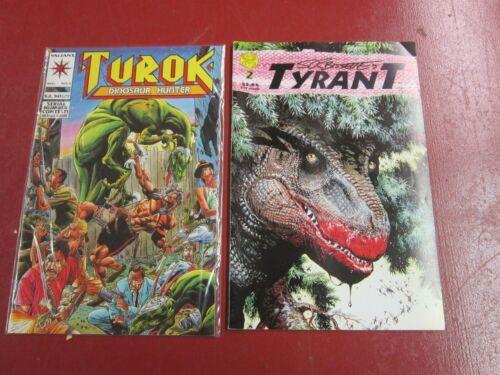 Dinosaur comic Books--Turok #2 by Valiant and Tyrant #2