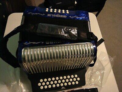 Accordion Hohner Corona III ADG BLUE!!!, Acordeon Vallenato