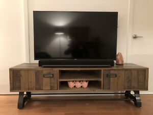 Beautiful TV stand - Rustic/Barn Wood - URBAN BARN