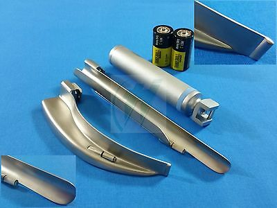 Laryngoscope Millermac Blade 4 Medium Handle Batteries Intubation Set