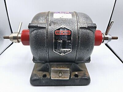 Red Wing 26a 14 Hp 2 Speed Ball Bearing A.c Motor Polisher Buffer Lathe