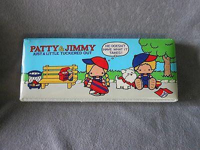 Vintage Sanrio 1976 PATTY & JIMMY RARE Pencil Case Box  JAPAN Near-Mint VERY OLD