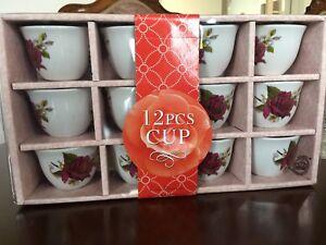 paquet de 12 tasses à café espresso neuf